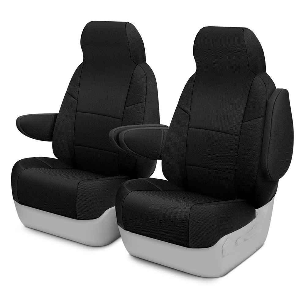 purchase Coverking® CSC2S1FD9780 - Spacer Mesh 1st Row Black Custom Seat Covers for Ford truck cheap online