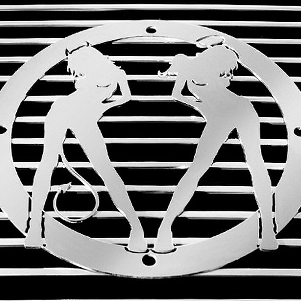 purchase T-Rex® L1003 - Devil/Angel Polished Grille Badge 609579013314 for Ford truck cheap online