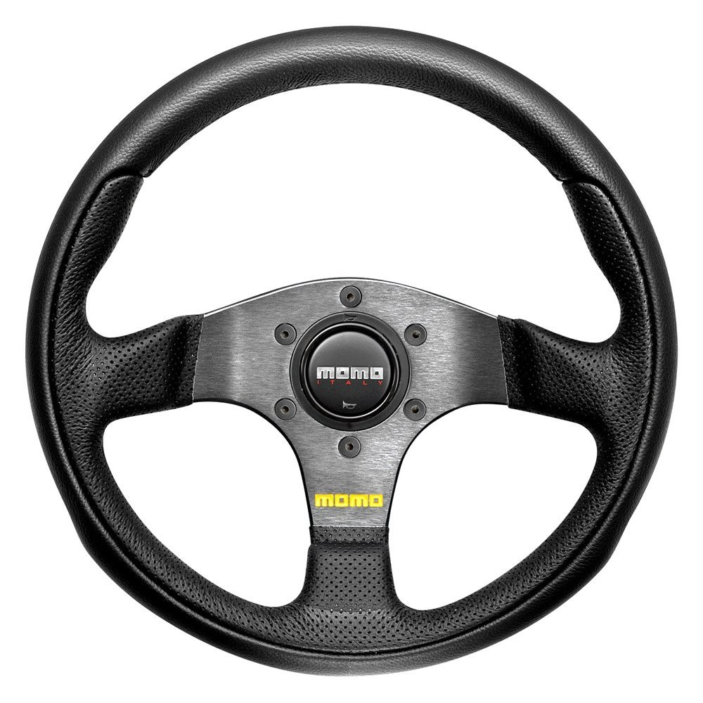 purchase MOMO® TEA28BK0B - Team Series Steering Wheel, Leather with Air Leather Inserts for Ford truck cheap online