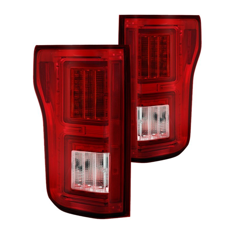 purchase Spyder® ALT-YD-FF15015-LBLED-RC - Chrome/Red Fiber Optic LED Tail Lights 847245083692 for Ford truck cheap online