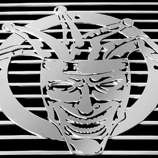 purchase T-Rex® L1000 - Joker Polished Grille Badge 609579013284 for Ford truck cheap online