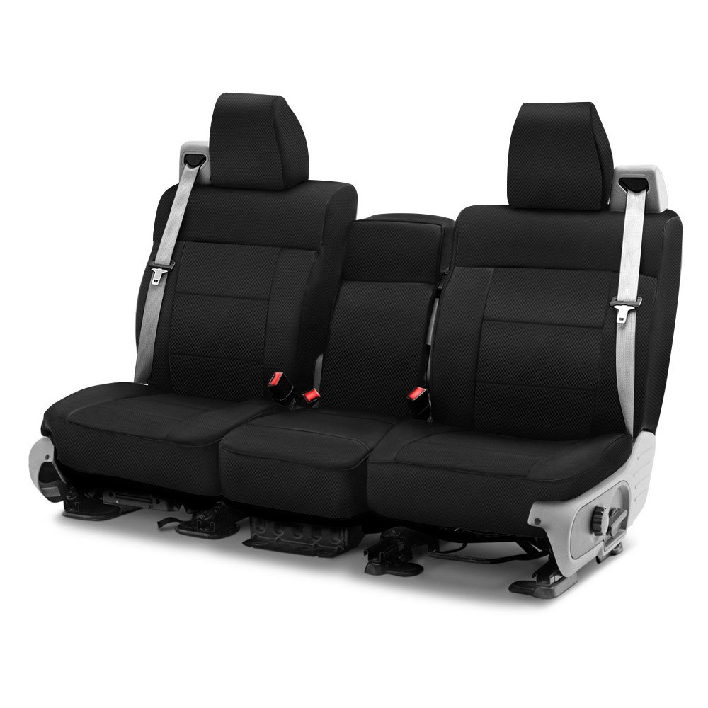 purchase Coverking® CSC2S1FD9814 - Spacer Mesh 1st Row Black Custom Seat Covers for Ford truck cheap online
