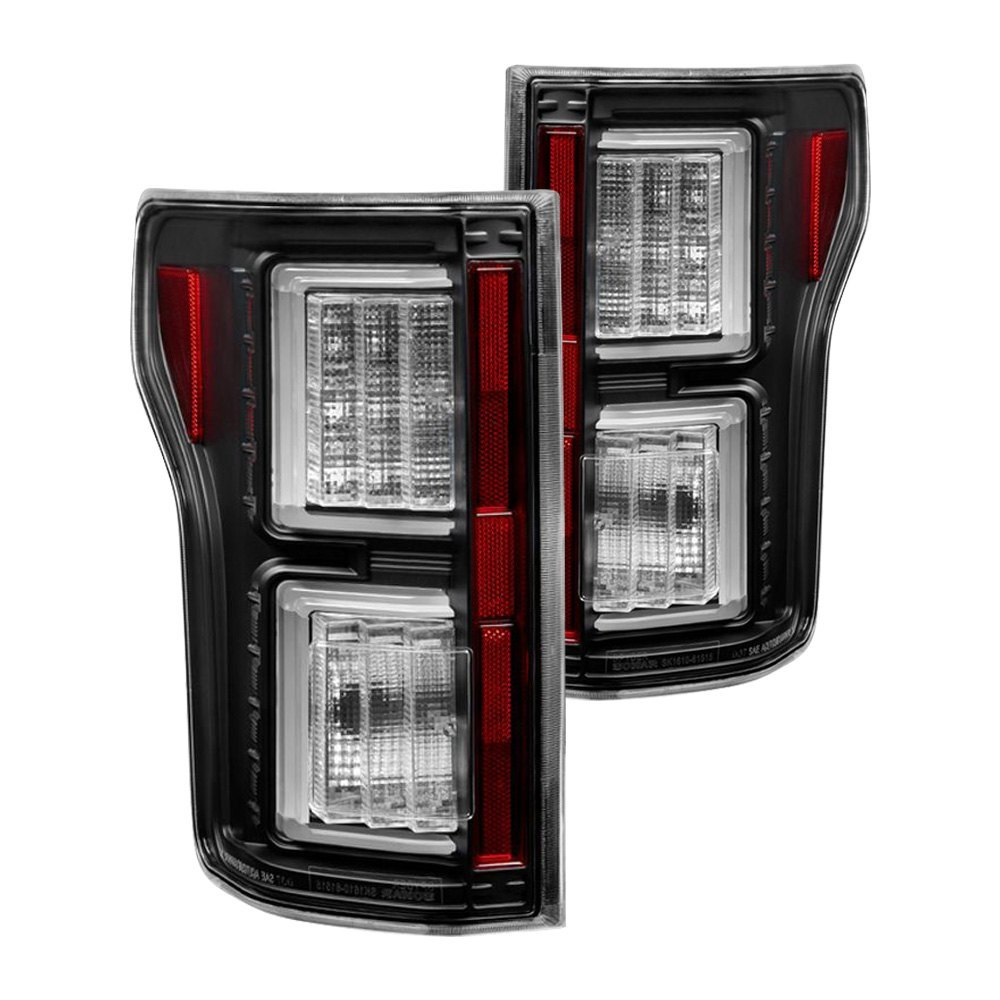 purchase Spyder® ALT-YD-FF15015-LBLED-BK - Black Fiber Optic LED Tail Lights 847245083487 for Ford truck cheap online