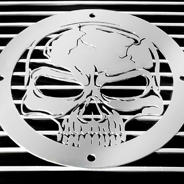 purchase T-Rex® L1009 - Skull Polished Grille Badge 609579013376 for Ford truck cheap online